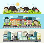 Cityscapes, illustration
