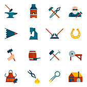 Blacksmith icons, illustration