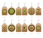 Ecological labels, illustration