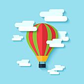 Hot air balloon, illustration