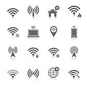Wifi icons, illustration