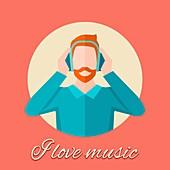 Music, illustration