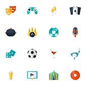 Entertainment icons, illustration