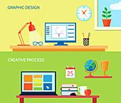 Workspaces, illustration