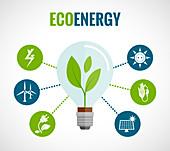 Green energy, illustration