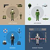 Military, illustration