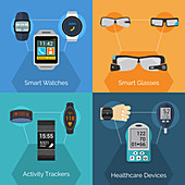 Wearable technology, illustration