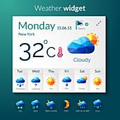 Weather forecast, illustration
