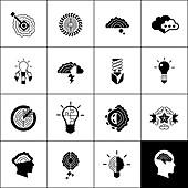 Creativity icons, illustration