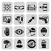 Virtual and augmented reality icons, illustration