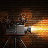 Film projector, illustration