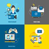 Social media, illustration