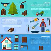 Logging industry, illustration