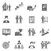 Career icons, illustration