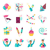 Party icons, illustration