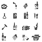 Wine icons, illustration