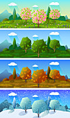 Four seasons, illustration