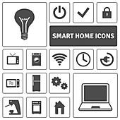 Smart home icons, illustration
