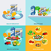 Healthy diet, illustration