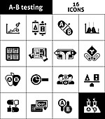 Split testing icons, illustration