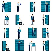 Data centre icons, illustration