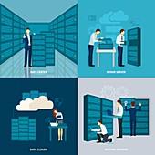 Data centre, illustration