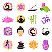 Wellness icons, illustration