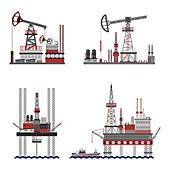 Oil extraction, illustration