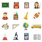 School icons, illustration