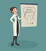 Dentist, illustration