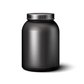 Plastic container, illustration