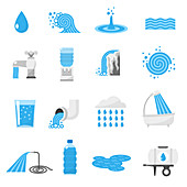 Water icons, illustration