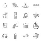 Water icons, illustration