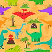 Prehistoric scene, illustration