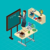 Teaching, illustration