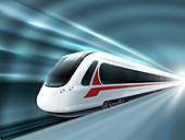 High-speed train, illustration