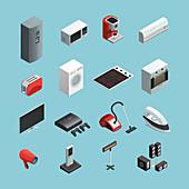 Electrical appliances, illustration