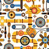 Machine parts, illustration