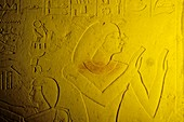 Clay tablet with hieroglyphs