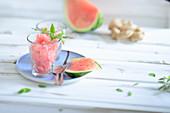 Watermelon granita with ginger
