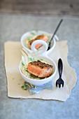 Salmon on a fennel medley