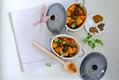 Currykartoffeln mit Okra