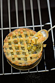 Gooseberry tart with a lattice topping