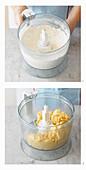 Zutaten für Mürbeteig in der Küchenmaschine mischen
