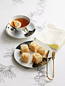 Mini Almond Coconut Lamingtons