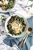 Pasta with chard, ricotta and pine nuts