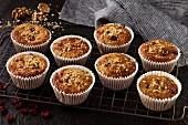 Caranberry walnut muffins