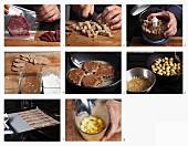 Hirschschnitzel mit Bratkartoffeln und Speck zubereiten