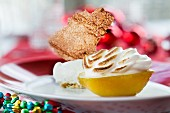 Amalfi lemons with lemon cream and meringue for Christmas