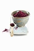 Wine salt in a ceramic bowl